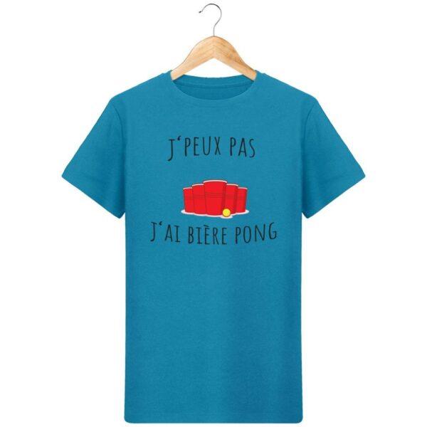 T-Shirt  J'peux pas j'ai bière pong  – Pour Homme