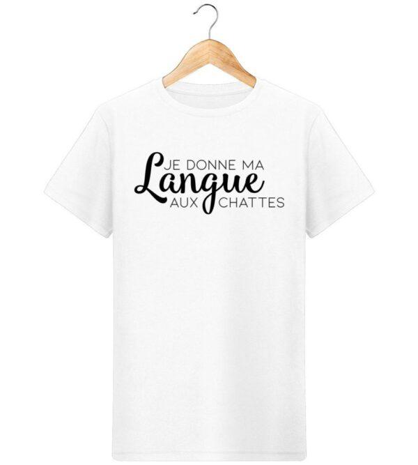 T-Shirt Je donne ma langue aux chattes - Pour Homme