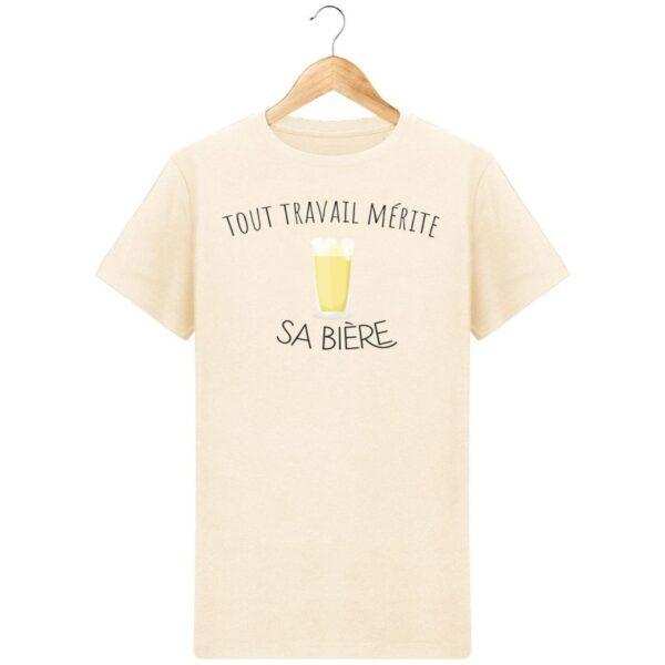 T-Shirt Tout travail, mérite sa bière - Pour Homme