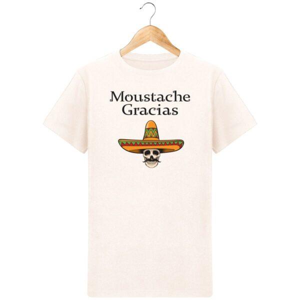 T-Shirt  Moustache Gracias  – Pour Homme