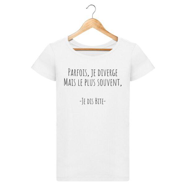 T-shirt Parfois je diverge - Pour Femme