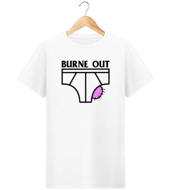 T-Shirt Burne out - Pour Homme