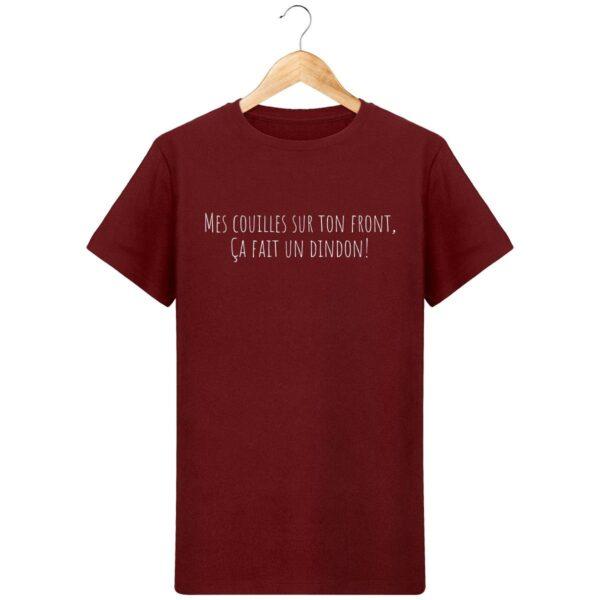 T-Shirt  Mes couilles sur ton front  – Pour Homme