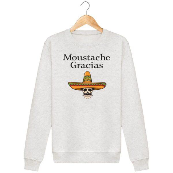 Sweat Moustache Gracias - Unisexe