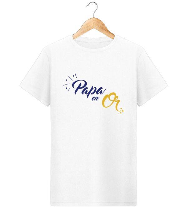 T-Shirt Papa en or - Pour Homme