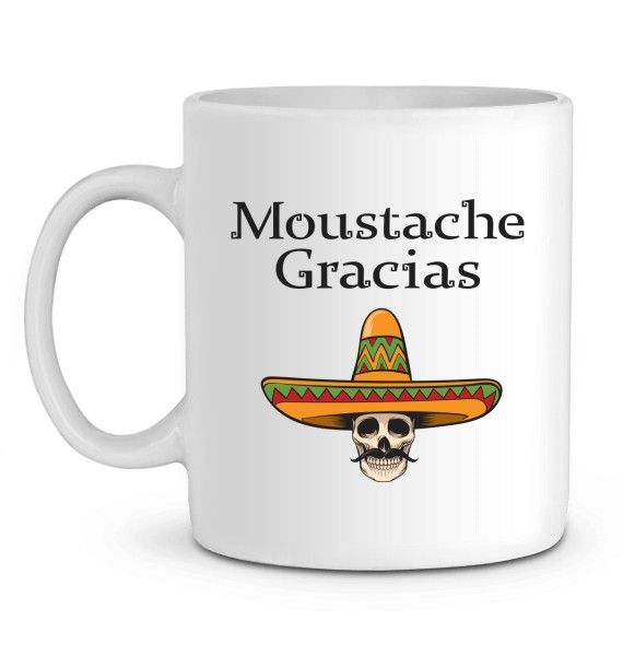Mug en Céramique Moustache Gracias