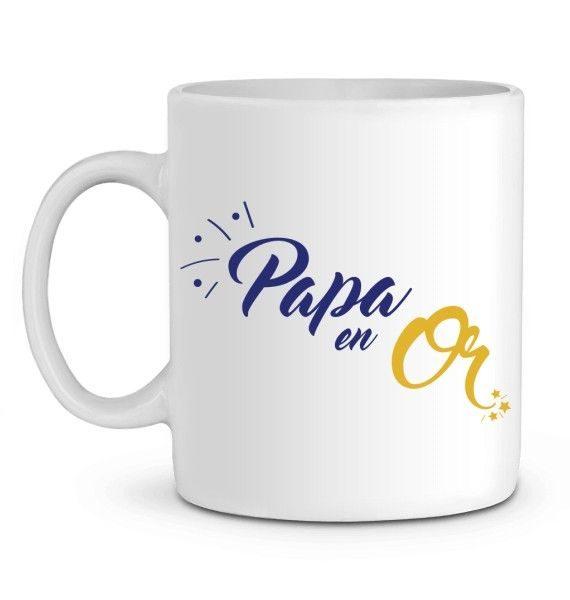 Mug en Céramique Papa en or