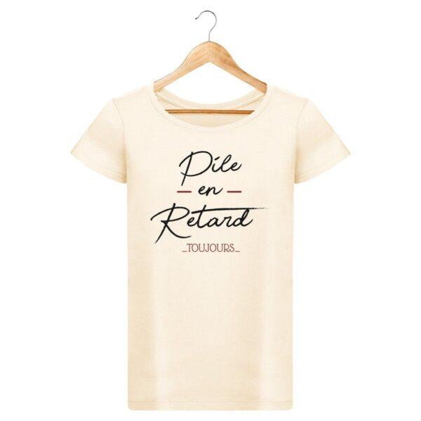 T-shirt Pile en retard - Pour Femme