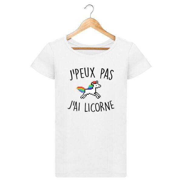T-shirt J'peux pas j'ai licorne - Pour Femme