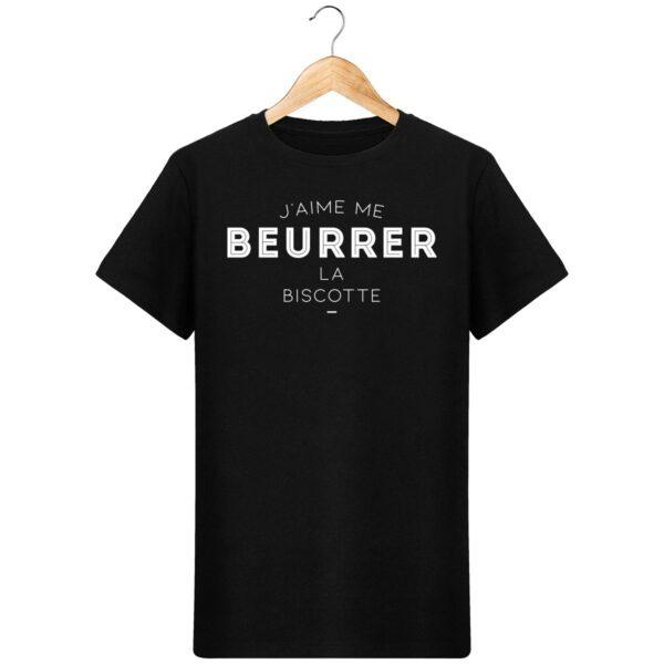 T-Shirt J'aime me beurrer la biscotte - Pour Homme