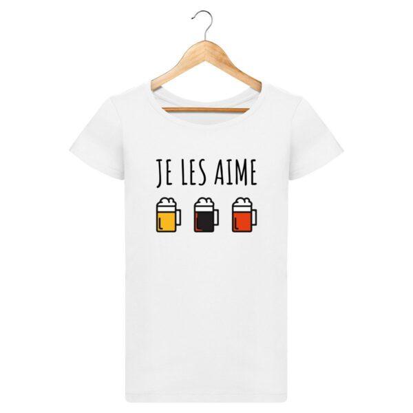 T-shirt Je les aime (les bières) - Pour Femme