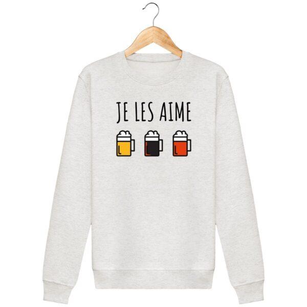 Sweat Je les aime (les bières) - Unisexe