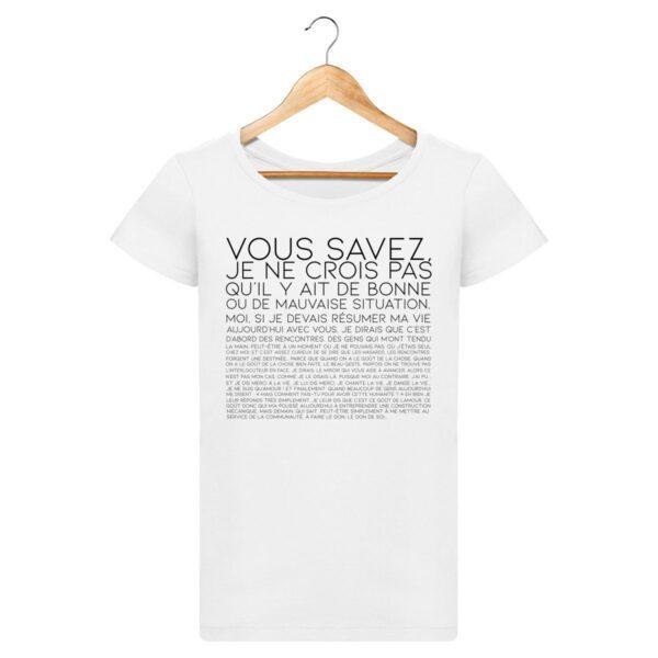 T-shirt Vous Savez... - Pour Femme
