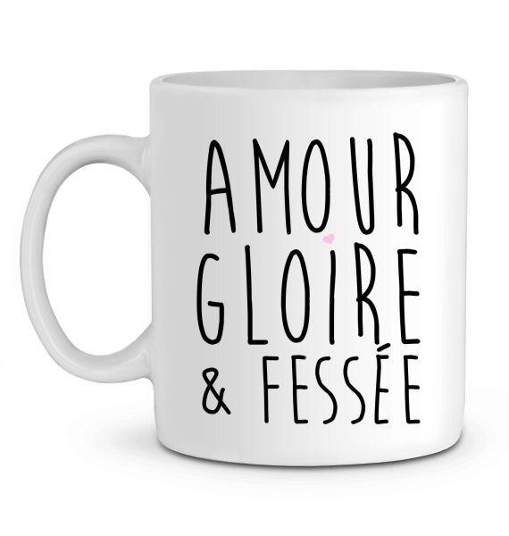 Mug en Céramique Amour Gloire & Fessée