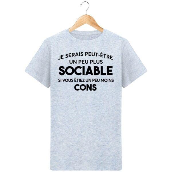 T-Shirt Etre sociable - Pour Homme