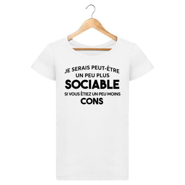 T-shirt Etre sociable - Pour Femme