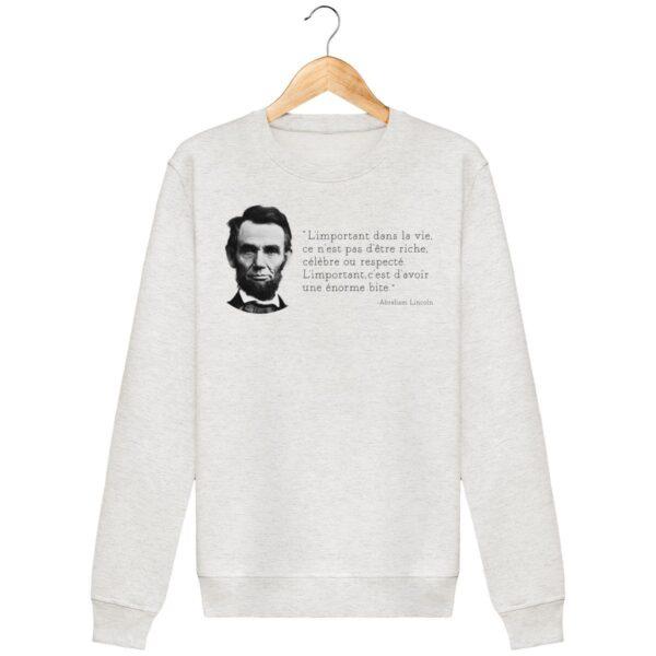 Sweat shirt L'important dans la vie – A.Lincoln - Pour Homme