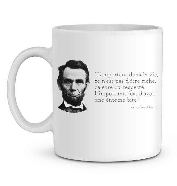 Mug en Céramique L'important dans la vie – A.Lincoln
