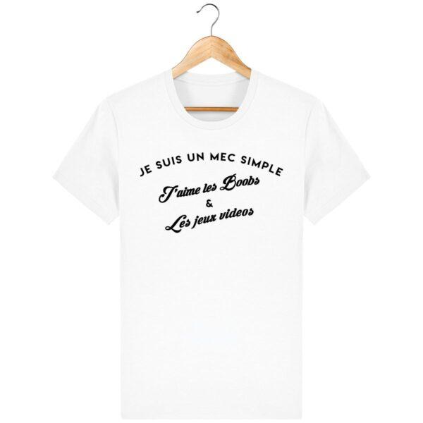 Tee Shirt J'aime les boobs et les jeux video - Pour Homme