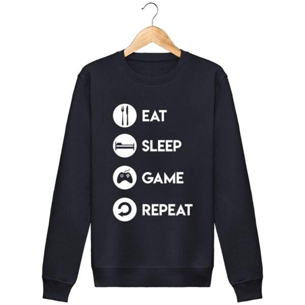 Sweat Eat Sleep Game Repeat - Unisexe