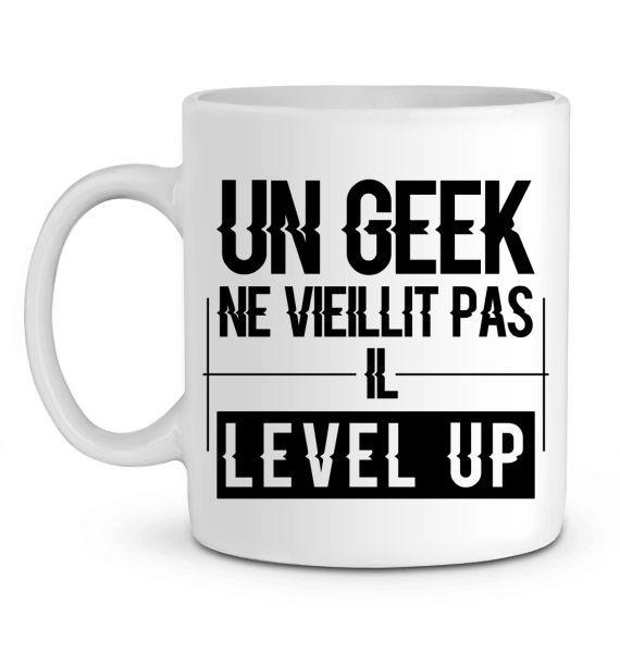 Mug en Céramique Un geek level up