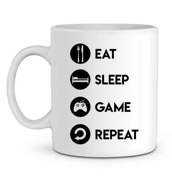 Mug en Céramique Eat Sleep Game Repeat