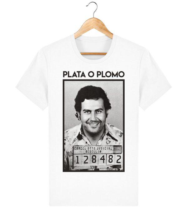 Tee Shirt Plata o Plomo, Pablo Escobar - Pour Homme
