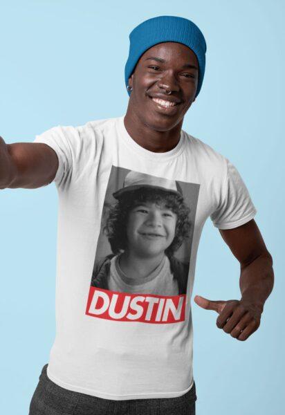 t shirt stranger things dustin